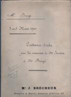Acte Notarial Notaire Brécheux à Paris Quittance D'ordre Par Créanciers De Mr Sausset à Burgé 56 Pages + Couverture 1900 - Manoscritti