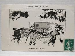 Scènes Des P.T.T.Illustrateur Morer. L'Auto Des Postes - Poste & Facteurs