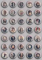 35 X Steven Tyler Music Fan ART BADGE BUTTON PIN SET 2 (1inch/25mm Diameter) - Music