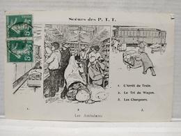 Scènes Des P.T.T.Illustrateur Morer. Les Ambulants - Poste & Facteurs