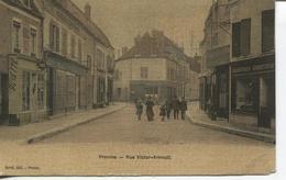 CPA - PROVINS - Rue Victor Arnoult - Carte Toilée - Provins