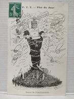 Plat Du Jour.  P.T.T. Illustrateur Morer. Statue De Fonctionnaires - Poste & Facteurs