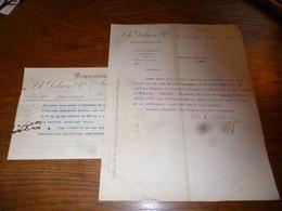 FF5  Document Commercial Facture Ch Delacre & Cie Bruxelles 1899 Pharmacie - 1950 - ...