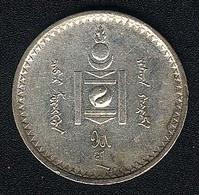 Mongolei, 50 Mongo 1925, Silber,XF - Mongolie