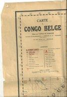 Carte Du Congo Belge. - Cartes Géographiques