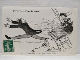 Plat Du Jour.  P.T.T. Illustrateur Morer. Au Téléphone - Poste & Facteurs