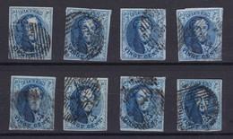 N° 11 A PLANCHE V :  8 Timbres Margés Et Planchés - 1858-1862 Médaillons (9/12)
