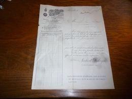 FF5  Document Commercial Facture Parfumerie Delettrez Bruxelles 1893  Anc Norbert Dekeyn S Hackelberg - 1950 - ...