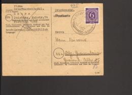 Alli.Bes 6 Pfg.Ziffer Auf Drucksache V.1946 Aus Unna Mit Sonderstempel Philatelistentagung - American,British And Russian Zone