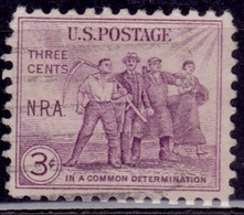 United States, 1933, National Recovery Act, 3c, Sc#732, Used - Vereinigte Staaten