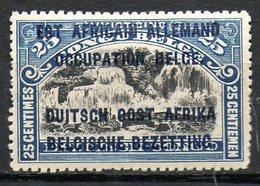 AFRIQUE - RUANDA-URUNDI - (Occupation Belge) - 1916 - N° 31 - 25 C. Bleu - (Timbre Du Congo Belge De 1916) - 1916-22: Mint/hinged