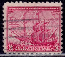 """United States, 1934, """"The Ark And Dove"""", 3c, Sc#736, Used - Vereinigte Staaten"""