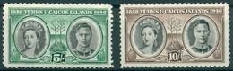 Turks & Caïcos - 1948 - Yt 141/142 - Centenaire De La Séparation Avec Les Bahamas - * Charnière - Turks & Caicos (I. Turques Et Caïques)