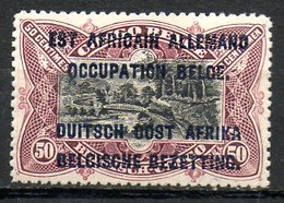 AFRIQUE - RUANDA-URUNDI - (Occupation Belge) - 1916 - N° 33 - 50 C. Lilas-brun - (Timbre Du Congo Belge De 1916) - 1916-22: Neufs