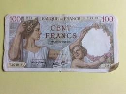 Billet 100 Francs Sully, 1941 (287) -  Froissé - 1871-1952 Anciens Francs Circulés Au XXème