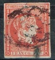 Isabel II, 1863, 5 Cu, Bermellón - Philippines
