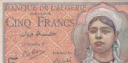 BILLET ALGERIE - 5 Francs Du 02 10 1944  N 348 / - Algérie