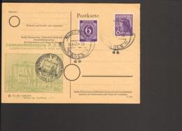 Alli.Bes.6 Pfg.Ziffer 6 Pfg.Arbeiter Auf Sonderpostkarte V. 1947 Aus Köln Landesverbandstagung BDPh M.Sonderstempel - Zone AAS