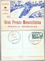 CARTOLINA - CV950 SOMALIA Mogadiscio 1953 Gran Premio Motociclistico Della Somalia, Annullo Della Manifestazione - Somalia