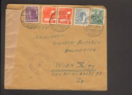 Alli.Bes.6,2 X 8,12 U.16 Pfg.Arbeiter Aus Rhede.Auslandsbrief N.Österreich V.1947 M.österreichischer Zensur, - American,British And Russian Zone