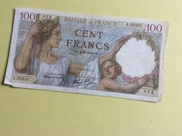 Billet 100 Francs Sully, 1941 (924) -  Froissé - 1871-1952 Anciens Francs Circulés Au XXème