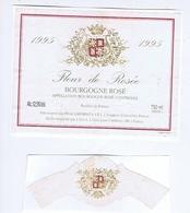 ETIQUETTE De VIN - BOURGOGNE Rosé 1995 - Fleur De Rosée - Pierre LAFOREST - SAINT-JEAN-d'ARDIERES ( 69 ) - Bourgogne