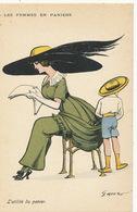 Mouton Les Femmes En Paniers Panier Poste  Utilité Du Panier Urinoir Pissing Urinating Card  GH Paris Serie 71 - Illustrateurs & Photographes