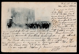 INSTITUTION SAINT JOSEPH A SAINT NICOLAS WAAS  - LA PETITE COUR  ( 1900 )  !!!! KREUK RECHTER O.HOEK - Sint-Niklaas