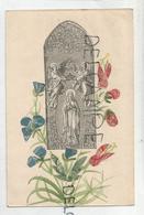 Collage De Timbres. Assomption Et Fleurs. - Timbres (représentations)