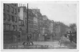 Paris Inondation 1910 Quai Des Grands Augustins - Marque Rose - Floods