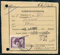 AUTRICHE - N° 608 / RECEPISSÉ POSTAL DE WIEN LE 2/7/1947 - TB - 1945-.... 2ème République