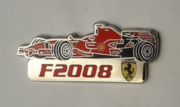 L140 Pin's Ferrari Officiel F2008 Shell Qualité Egf Signé Bolaffi 40 Mm X 15 Mm RARE Achat Immediat - Ferrari