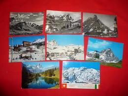 Lotto 8 Cartoline Cervinia Cervino Valle D'Aosta - Italia
