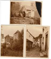 1930 - 3 Photos 12 Cm X 9 Cm - Grimbergen - Moulin -  Voir Scan - Lieux