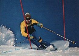 Carte Postale Moderne - Ski Slalom - INGEMAR STENMARK - Dédicacée - Sports D'hiver