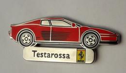 L365 Pin's Ferrari Officiel Testarossa SUPERBE Qualité Egf Signé Bolaffi 40 Mm X 15 Mm RARE Achat Immediat - Ferrari