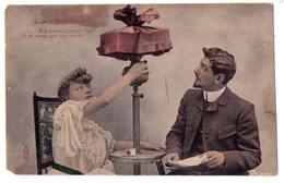 3781 - Cp Humoristique - Sous L'Abat-Jour - Si Je Baissais La Lampe Il Ne Verrait Pas Mon Trouble - Royer à Nancy N°3 - Humour