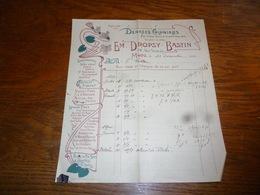 FF5  Document Commercial Facture Em Dropsy Bastin Denrées Coloniales 1900 Café Chocolat Gilbert - Belgique
