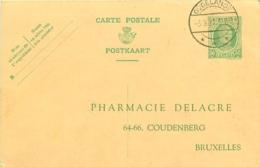 Belgique. CP 79  Houyoux  Repiquage Illustré  Dudelange (G.D. Luxembourg) > Bruxelles 1927 Et Cependant Non Taxée - Stamped Stationery