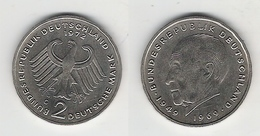 BRD  2 DM 1972 G Adenauer Bfr - [ 7] 1949-… : RFA - Rép. Féd. D'Allemagne
