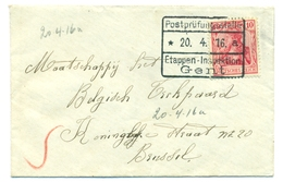 Belgique - Germany Y&T84 On Letter To Brussels 20 Apr 1916 - [OC26/37] Terr. Etapes