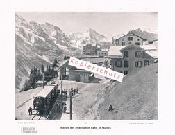 057 Konvolut 10 Bilder Mürren Alpen Gebirge Vor 110 Jahren !!       8,90 - Documents Historiques