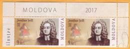 2017 Moldova Moldavie Moldau Famous Personalities Of Moldovan And World Culture   9,50 Lei  - Jonathan Swift Mint - Moldova