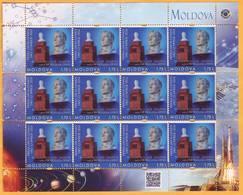 2016 Moldova Moldavie Moldau  Russia  Yuri Gagarin. Personalized Stamps. Space. Monument To Gagarin. Berezlogi Village. - Moldova