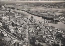 En Avion Au Dessus De … PEYREHORADE (Landes) Le Pont Sur Les Gaves Et Vue Generale - Circulé En 1961 - Peyrehorade