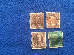 United States Stamp 1890-1893  Set Of 4,  Canceled & Hinged - Used Stamps