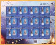 2016 Moldova Moldavie Russia Yuri Gagarin. Personalized Stamps Space Monument To Gagarin Tiraspol Transnistria - Moldova