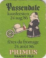 SOUS-BOCK PRIMUS HAACHT PILS - PASSENDALE FETE DU FROMAGE 1986 - KAASFEESTEN - Sous-bocks