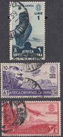 AFRICA ORIENTALE ITALIANA - 1938 - Lotto Di 3 Valori Usati: Yvert Posta Aerea 5, 6 E 8, Come Da Immagine. - Africa Orientale Italiana