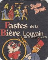 SOUS-BOCK STELLA ARTOIS - FASTES DE LA BIERE - LOUVAIN 1983 - Beer Mats